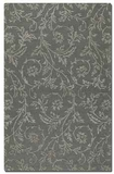 Licata Blue Grey 5' Rug in Cut Pile with Raised Vine Detail Brand Uttermost