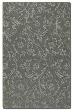 Licata Blue Grey 8' Rug in Cut Pile with Raised Vine Detail Brand Uttermost