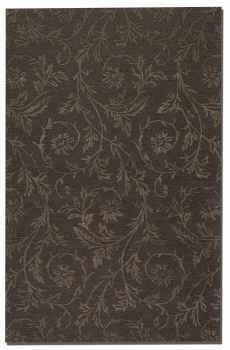 Licata Dark Chocolate 8' Rug Cut Pile with Raised Vine Detail Brand Uttermost