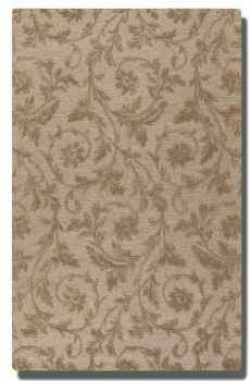 "Licata Desert Sand 16"" Wool Rug with Raised Vine Detail Brand Uttermost"