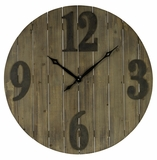 Light Brown Wood Finish Stylish Mahdis Clock by Cooper Classics