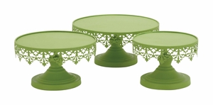Light Green Color Attractive Metal Cup Cake Stand by Woodland Import