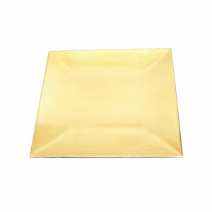 "Lightweight 12"" Square Charger Plate in Gold Finish Set / 24 Brand Woodland"