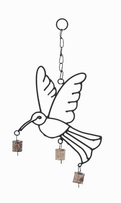 Lightweight and Crafted with Quality Metal Bird Wind Chime Brand Woodland