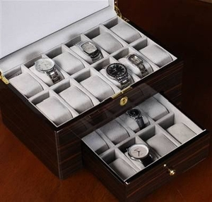Linden 20 Watch Case with Cushy Interiors and Extra Pads Brand Nathan