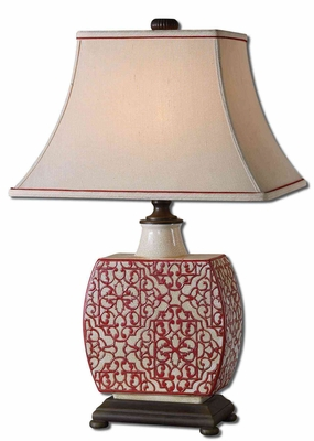 Lindsa Ivory Table Lamp with Intricate Detailing Brand Uttermost