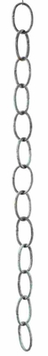 Link Rain Chain - Large Single Link Chain With Blue Verde Finish Brand Good Direction