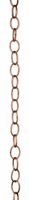 Small Single Link Rain Chain - Polished Copper by Good Directions