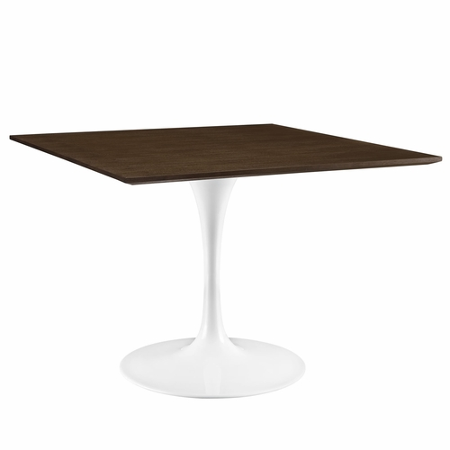 Tables Accent Tables Modway EEI 1643 WAL Lippa 40 Walnut Dining Table