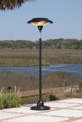 Livorno Floor Standing Round Halogen Patio Heater, Creative Plus Compact Unit by Well Travel Living