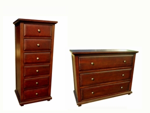 Locarno Chest And Dresser Amazingly Antiqued Eye-catching Functional Set by D-Art