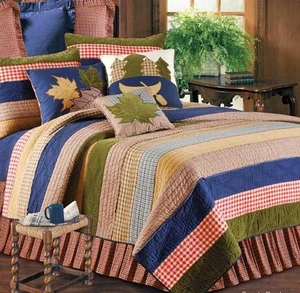Lodge Living Lodge Cabin Cotton Quilt Lux Os King  Bedding Ensembles Brand C&F