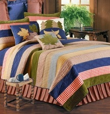 Lodge Living Lodge Cabin Cotton Quilt Lux Os Queen  Bedding Ensembles Brand C&F