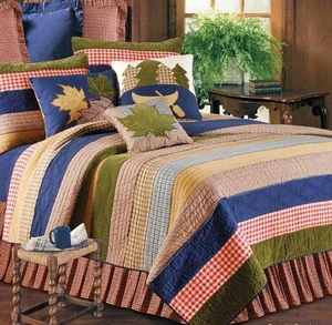 Lodge Living Lodge Cabin Cotton Quilt Lux Os Twin  Bedding Ensembles Brand C&F