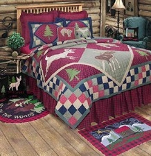 Lodge Quilt Handmade Luxury Cal Queen  Quilts Brand C&F