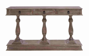 London Sturdy Console Table Unit With Drawers Brand Benzara