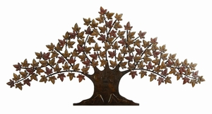 "Lone Tree Metal Wall Art Decor Sculpture 24""x48"" Brand Woodland"
