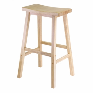 """Long & Gleaming Piece of Saddle Seat 29"""" Stool by Winsome Woods"""