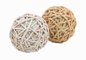 Long Lasting 2 Assorted Dual Jute Balls with a Classy Look Brand Woodland