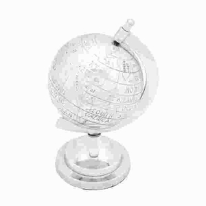 Long Lasting Aluminum Decor Globe with Intricate Detail Work Brand Woodland