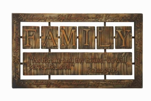 Long Lasting Decorative Metal Wall Decor with Squared Shaped Brand Woodland