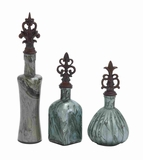 Long Lasting Glass Polished Stone Decor Jar Set of 3 Brand Woodland