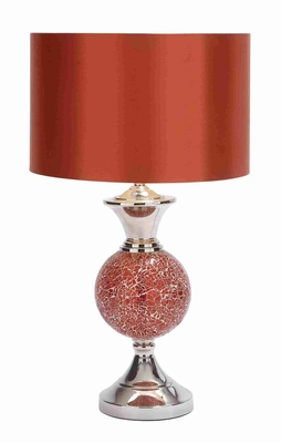 Long Lasting Metal and Glass Table Lamp with Medium Socket Base Brand Woodland