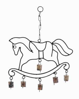 Long Lasting Metal Horse Wind Chime with Fascinating Design Brand Woodland
