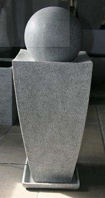 Long Square Planter with Ball Fountain in Coppery Finish Brand Screen Gem