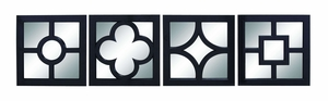 Looking Glass - Contemporary Mirror With Black Frame Patterns Brand Woodland
