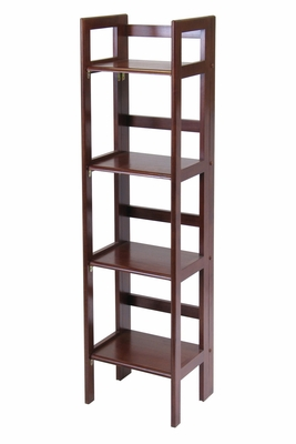 Winsome Wood Looks Adorable With Intelligently Designed 4-Tier Narrow Folding Shelf