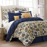 Lorna Paisley Queen Eight Piece Reversible Embellished Comforter Set