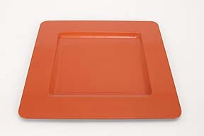 "Lot of 30 Tango Orange Square Charger Plates 13"" Brand Woodland"
