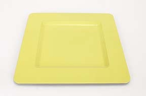 """Lot of 30 Tango Yellow Square Charger Plates 13"""" Brand Woodland"""