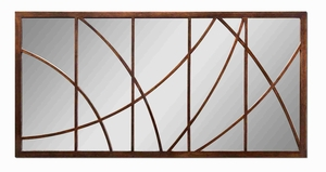 Loudon Wall Mirror with Bronze Finish Abstract Frame Brand Uttermost