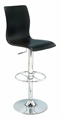 Lounge Bar Stool Chrome with Gas Lift Full Swivel, Adjustable Height Brand Woodland