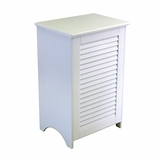 Louvered Hamper (RTA - Ready To Assemble) in White by Redmon