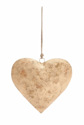 Love's Metal Gold Heart by Woodland Import