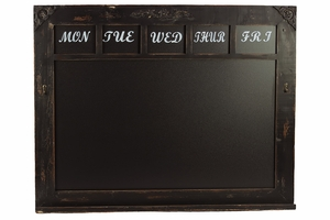 Lovely and Antique Themed Wooden Framed Blackboard by Urban Trends Collection
