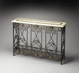 Lovely Aphrodite Fossil Stone Console Table by Butler Specialty