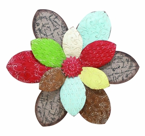 Lovely Blooming Flower Decor With Metallic Scrapbook Pattern Brand Woodland