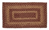 Lovely Burgundy Tan Jute Rug Rect by VHC Brands