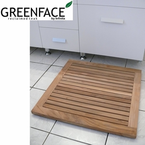 Lovely Greenface Reclaim Teak Floor Mat by Infinita