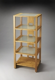 Lovely Ivanhoe Bamboo & Glass Bookcase by Butler Specialty