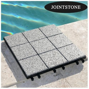 Lovely JointStone Granite Tile Set of 6 in Dark Grey by Infinita