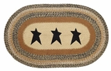 Lovely Kettle Grove Jute Rug Oval Stencil Star by VHC Brands
