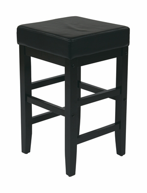 Lovely Metro Square Top Faux Leather Stool by Office Star