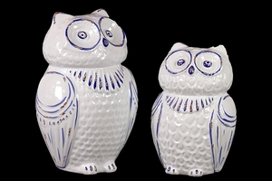 Lovely Pair of Derby Decorative Ceramic Owl