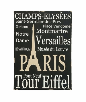 Lovely Paris Tourist Destinations Wall Art Decor on Canvas Brand Woodland