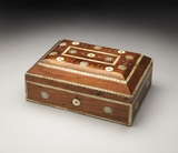 Lovely Patna Bone Inlay Storage Box by Butler Specialty